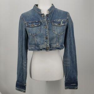 Angel Kiss, Cropped Jean Jacket, Size Large